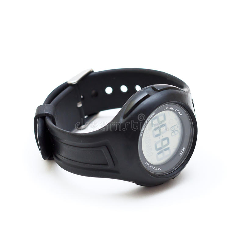 Electronic watch stock photography