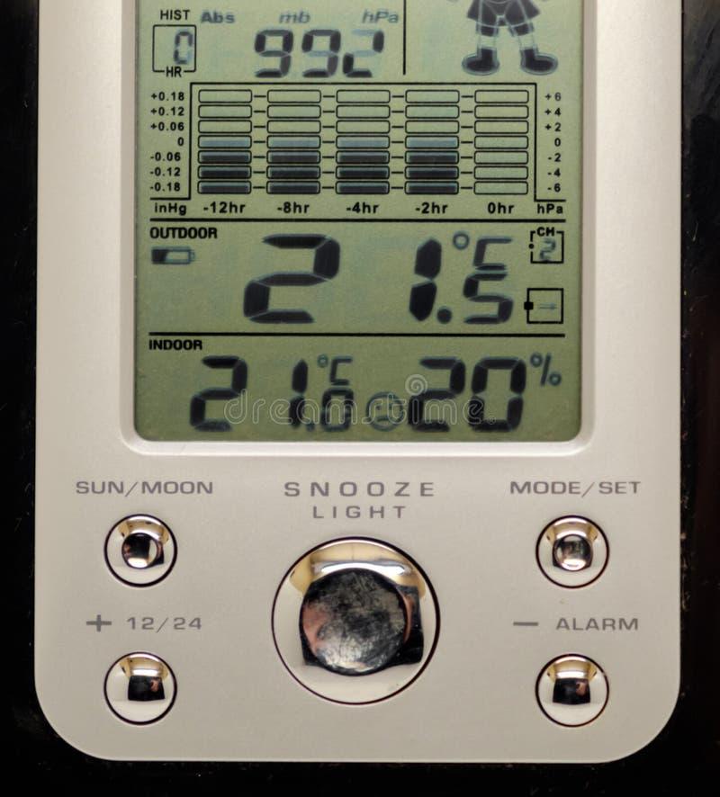 Electronic weather station isolated. On the white background stock image