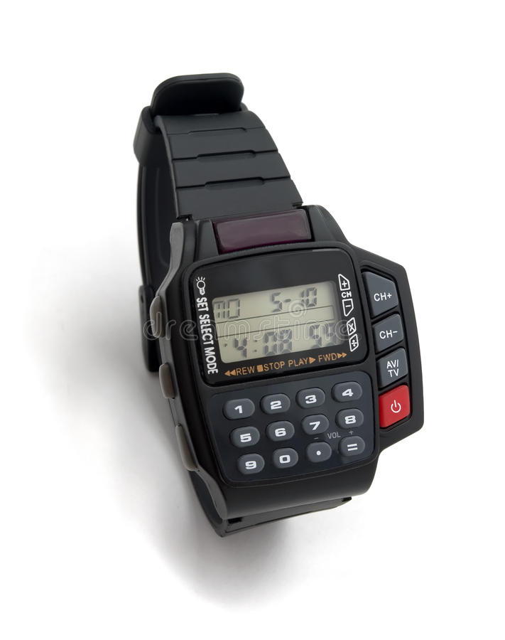 Electronic wristwatch royalty free stock photos