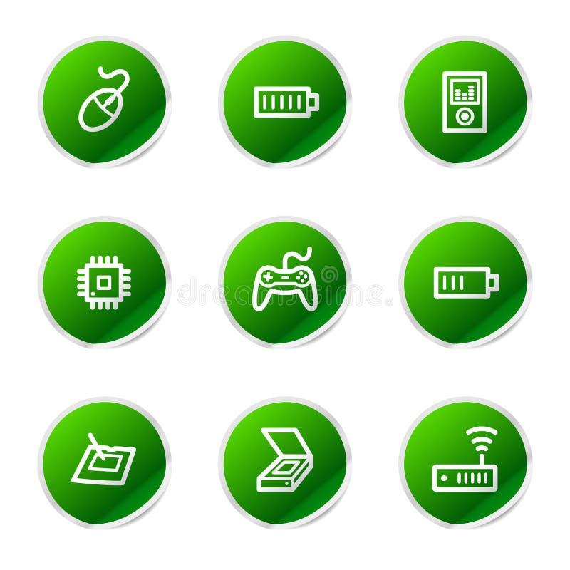 Free Electronics 2 Web Icons Royalty Free Stock Images - 6268389