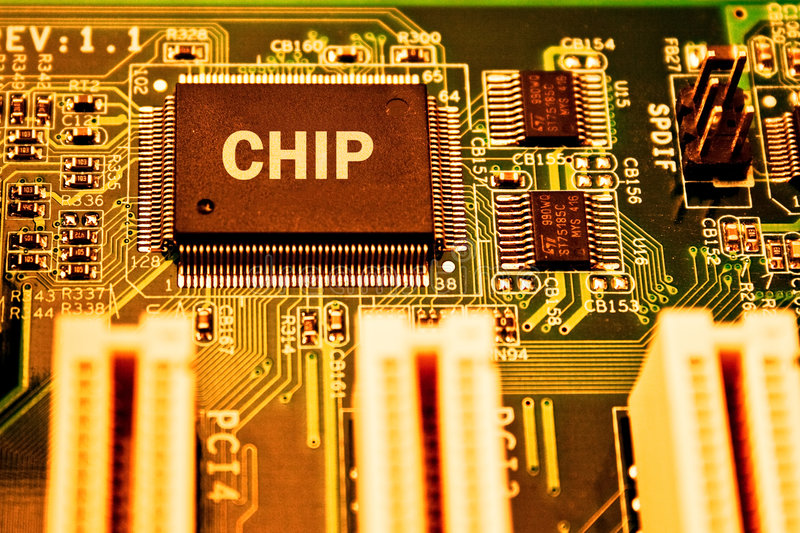 Download Electronics Circuit Board With CPU Stock Photo - Image of data, processor: 6814140