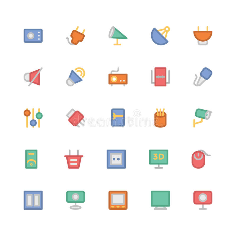 Electronics Colored Vector Icons 10. This Electronics Icon Pack is absolutely bursting with resources that you will love to use for your next technology and stock illustration