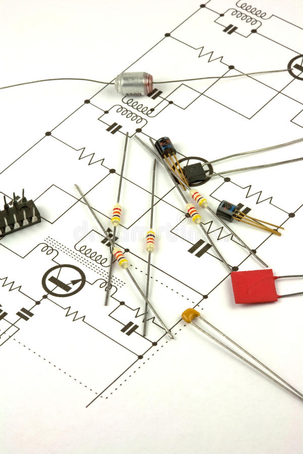Download Electronics Components stock photo. Image of schematic - 17022544