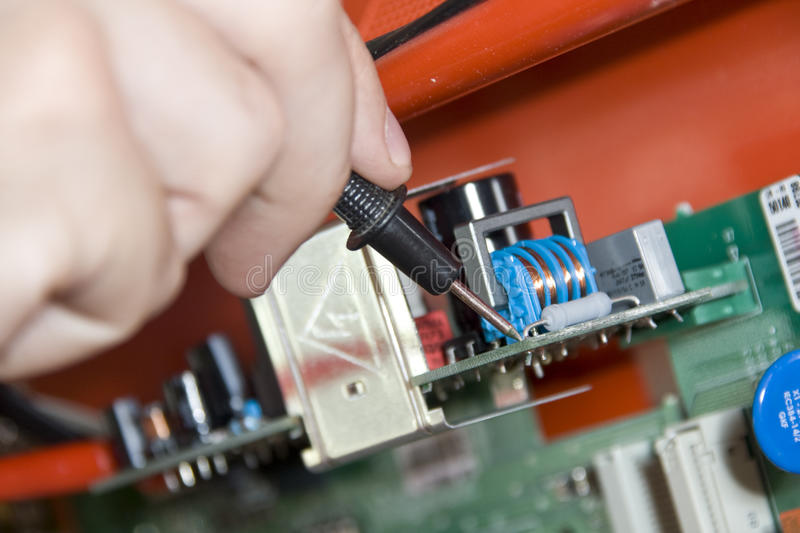 Download Electronics. Engineer At Work Stock Photo - Image: 14744966