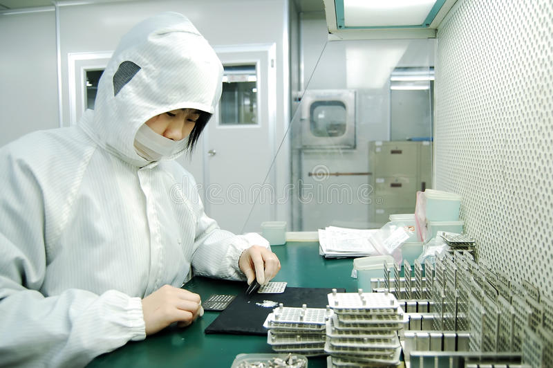 Electronics factory stock images