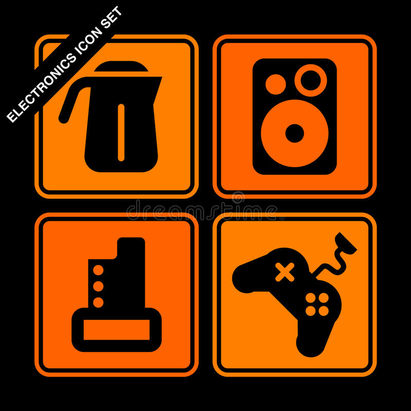 Electronics Icon Set Royalty Free Stock Image