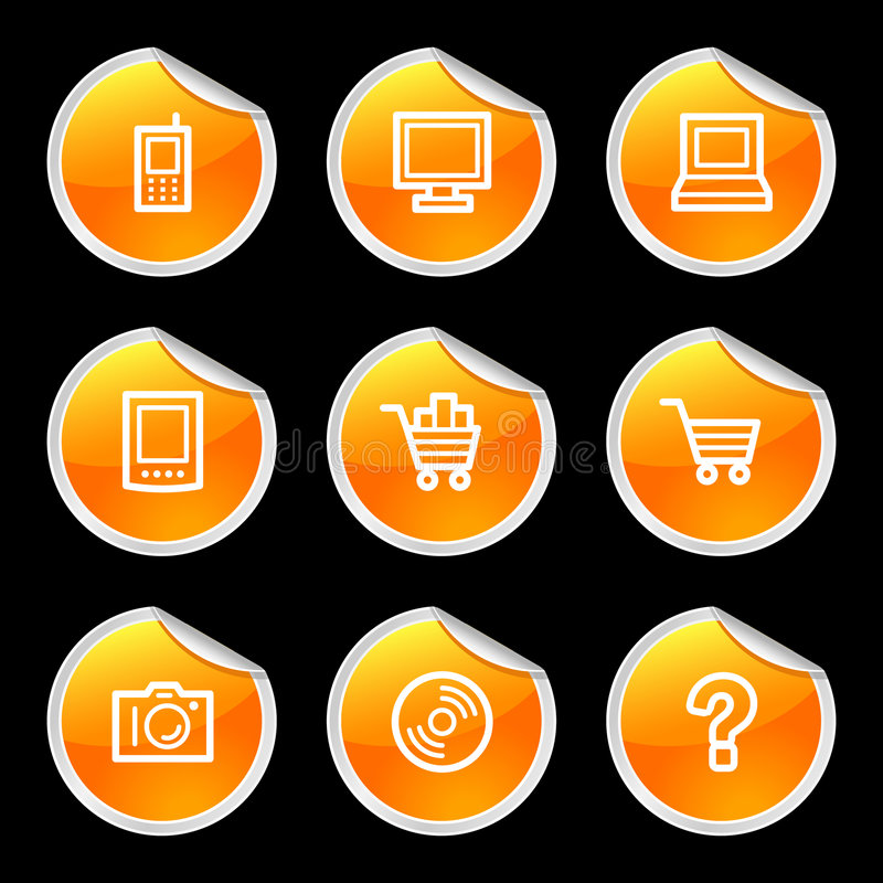 Download Electronics icons stock vector. Image of button, full - 5618176