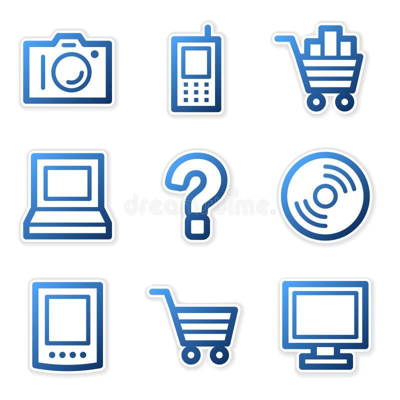 Download Electronics Icons Blue Contour Stock Photos - Image: 5171703