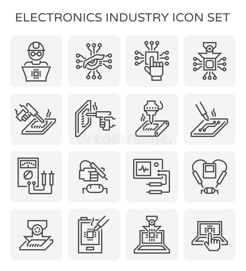 electronics industry icon stock vector  illustration of industrial