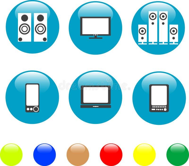 Download Electronics Media Technical Equipment Icon Stock Vector - Illustration: 19184615
