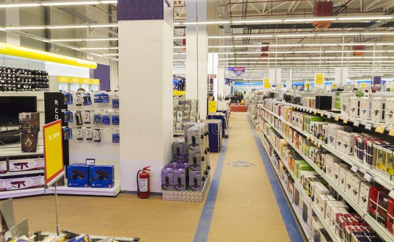 Electronics shop stock images