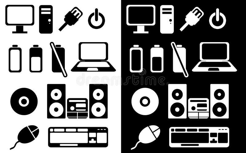 Electronics signs stock illustration. Illustration of symbols - 16590370
