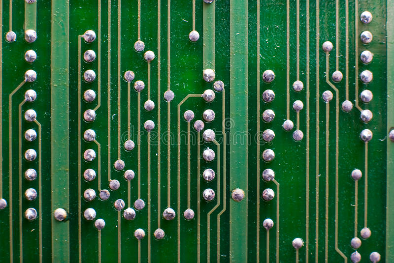 Electronics technology background in green stock photography