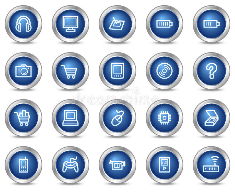 Download Electronics web icons stock vector. Illustration of internet - 10975306
