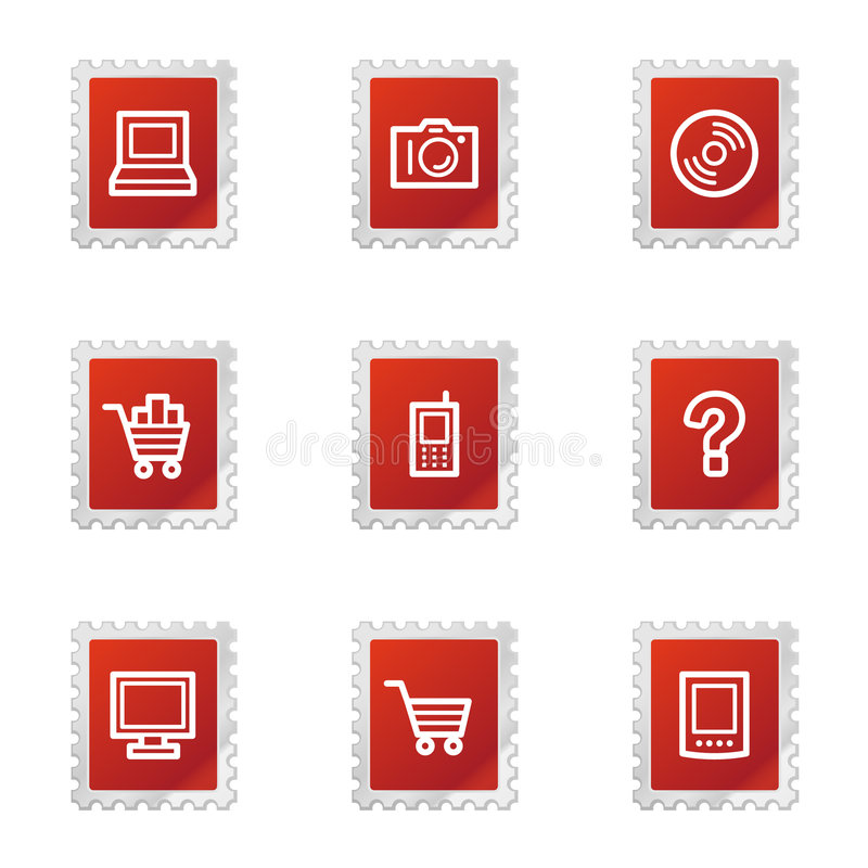 Download Electronics web icons stock vector. Illustration of button - 5766551