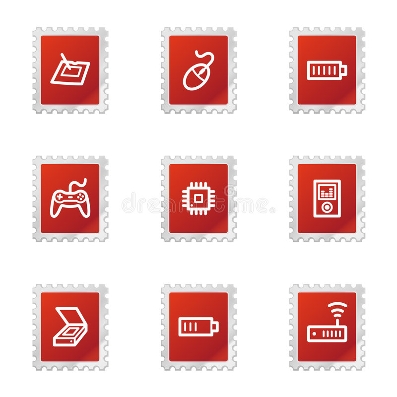 Download Electronics Web Icons Set 2 Stock Vector - Illustration of icons, sign: 7223718