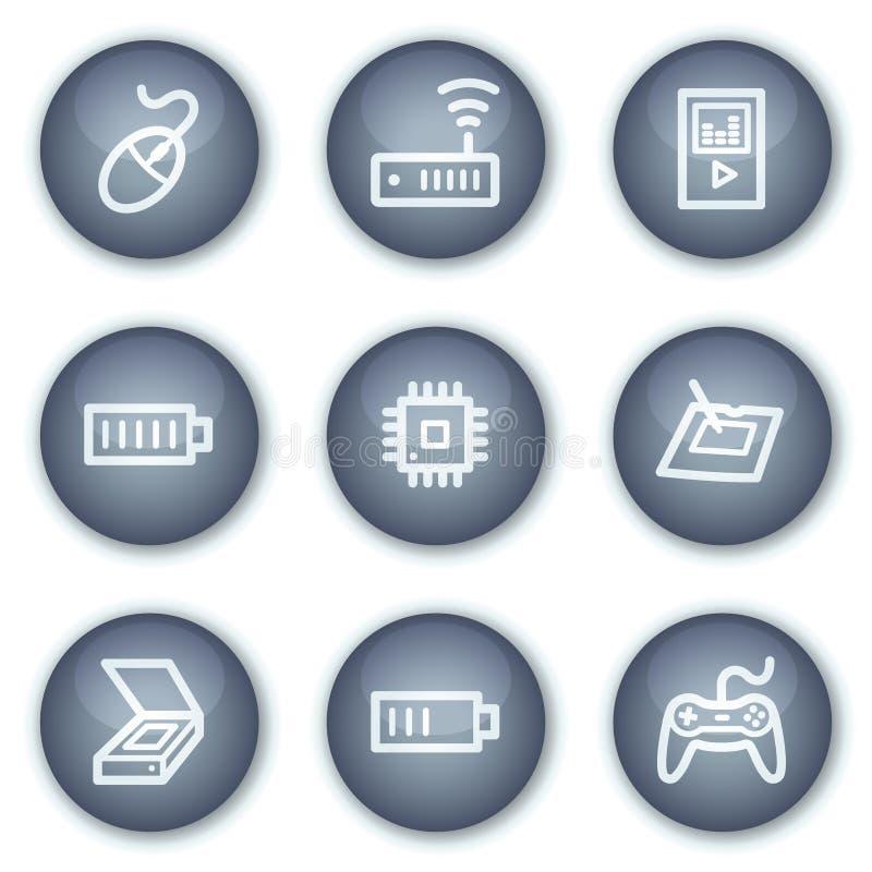 Free Electronics Web Icons Set 2, Mineral Circle Stock Photo - 12567420