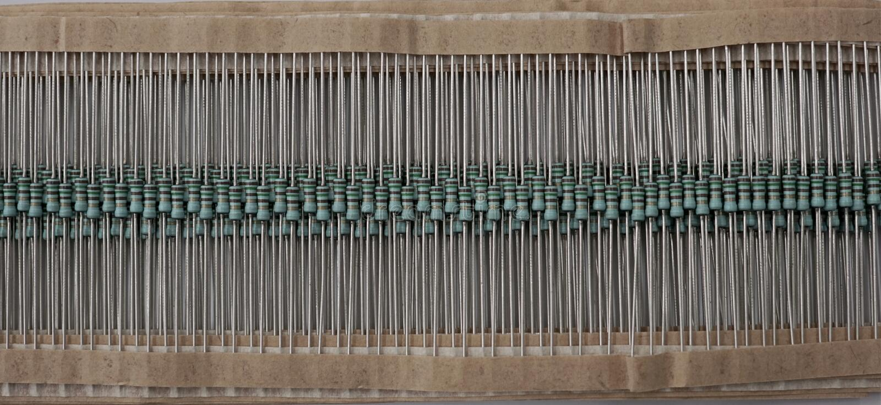 electronis的Resitor电路板150欧姆 免版税库存照片