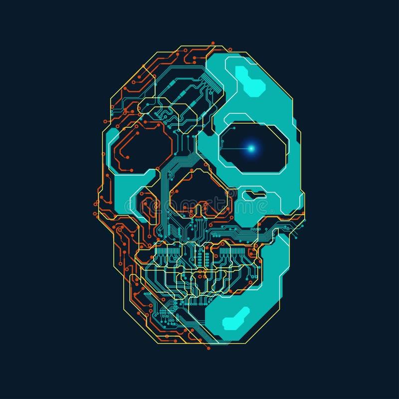 ElectroSkull illustration libre de droits