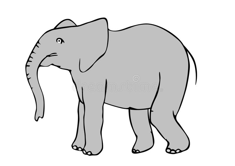 Download Elefant stock vector. Image of animal, african, drawing - 17708854
