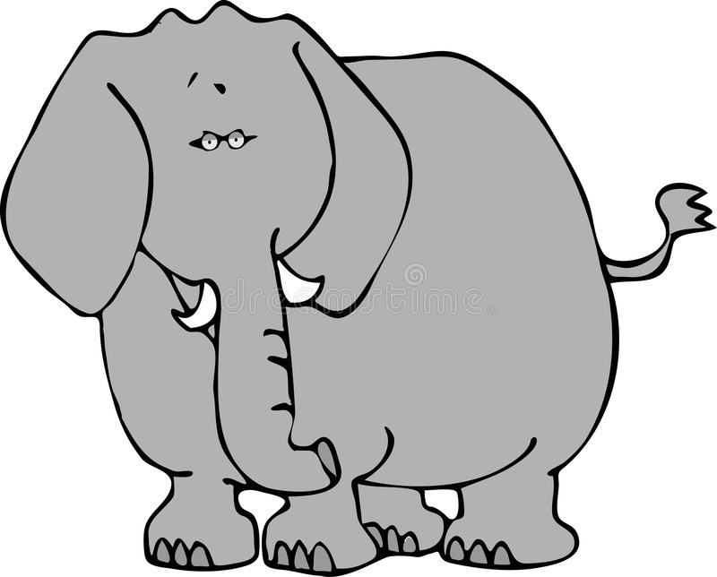 Elefant 2 lizenzfreie abbildung
