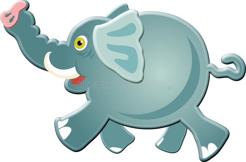 elefant vektor illustrationer