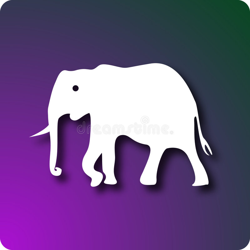 Download Elefant vektor illustrationer. Illustration av elefant - 3540156