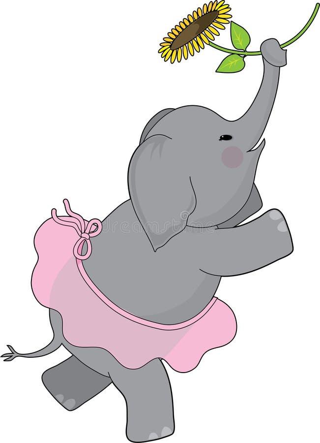 Elefant-Ballettröckchen stock abbildung