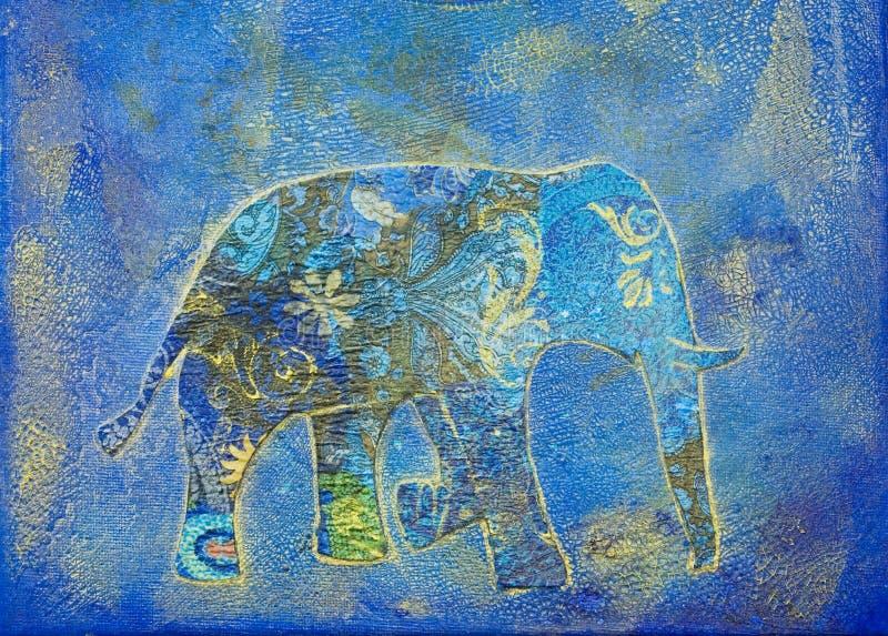 Elefant-Collage vektor abbildung