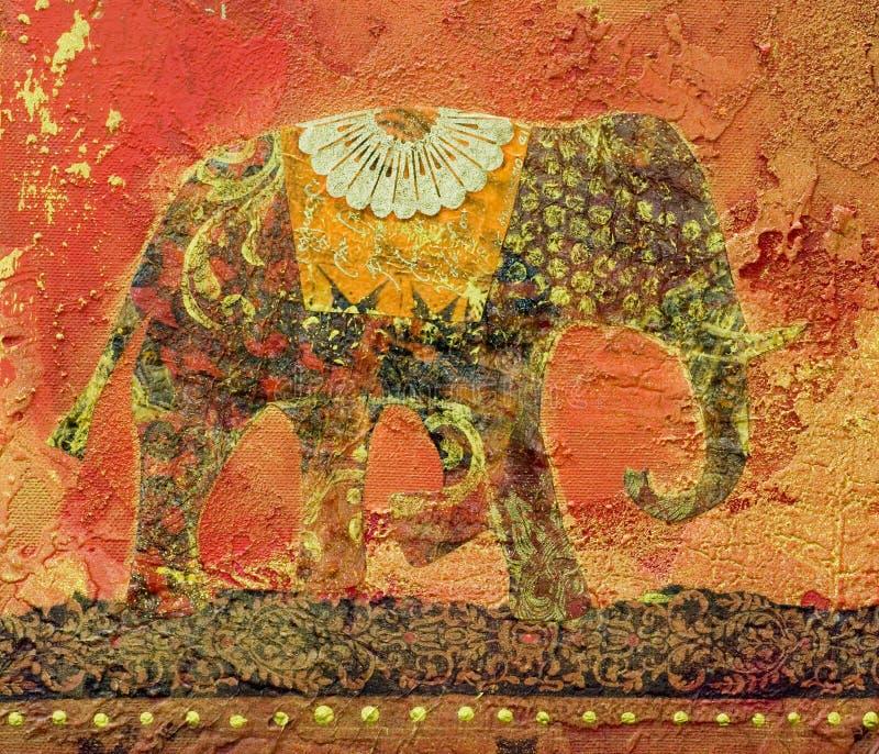 Elefant-Collage lizenzfreie abbildung