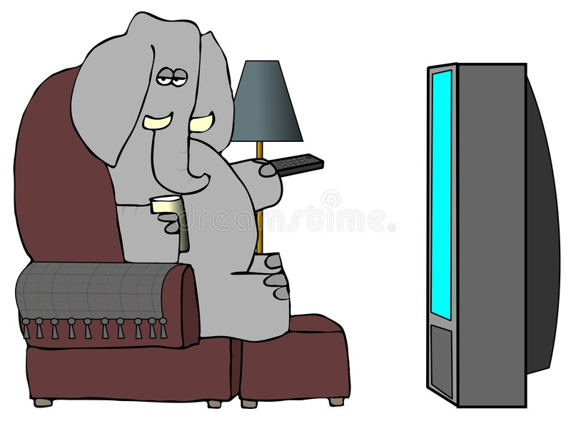 Elefant-entfernte Station lizenzfreie abbildung