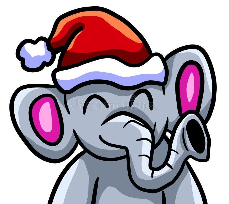 Elefant för lycklig jul vektor illustrationer
