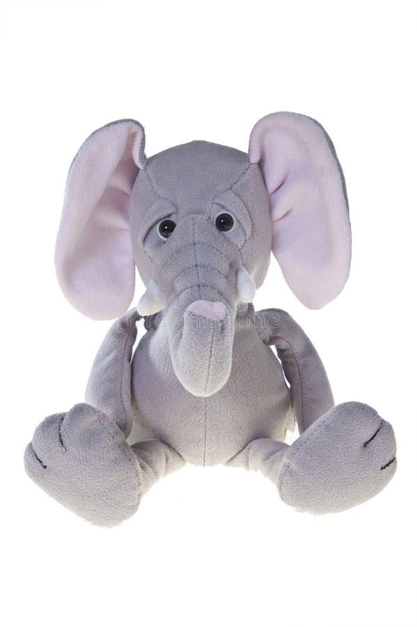 Elefant füllte das Spielzeug an, getrennt auf Weiß stockfotos