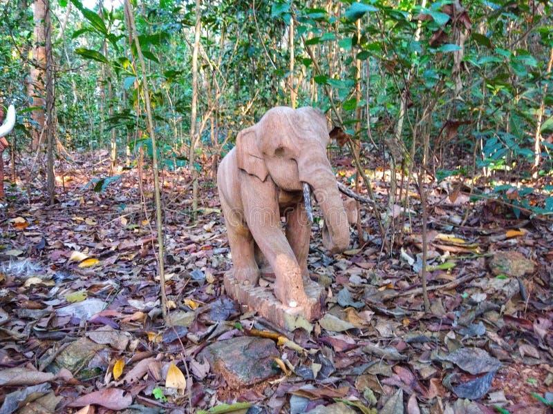 Elefant i djungel arkivbild