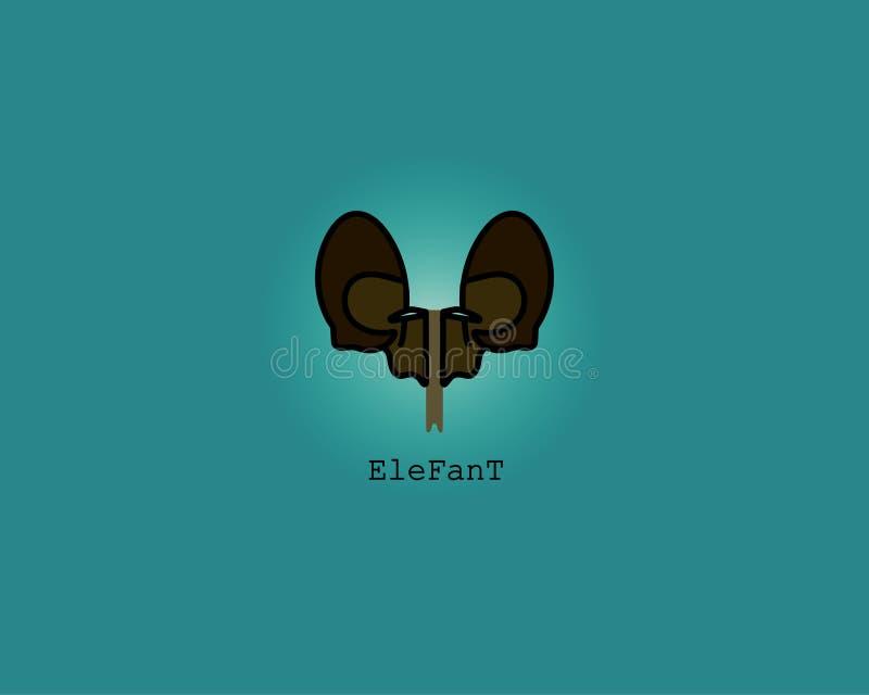Elefant-Logo oder Ikone lizenzfreie stockfotografie