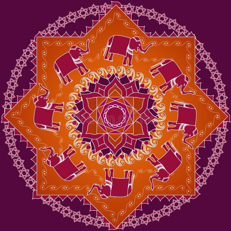 Elefant-Mandala stock abbildung