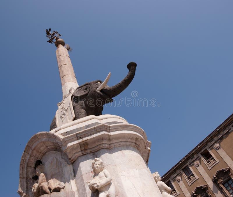 Elefant nach Catania lizenzfreies stockbild