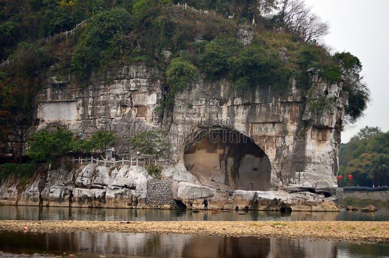 Elefant-Stamm-Hügel-Park von Guilin Guilin ist eine Stadt, die durch viele Karstberge und schöne Landschaft in China umgeben wird lizenzfreie stockbilder