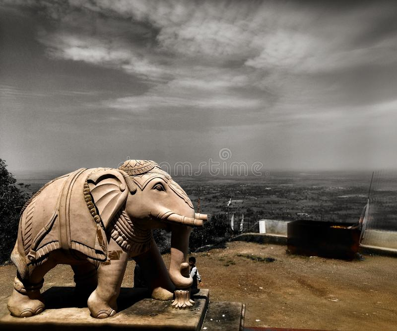 Elefant-Statue lizenzfreies stockbild