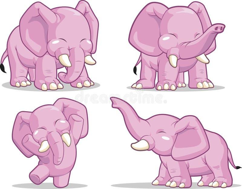 Elefant-Stellung, sein Kabel tanzend u. anheben lizenzfreie abbildung