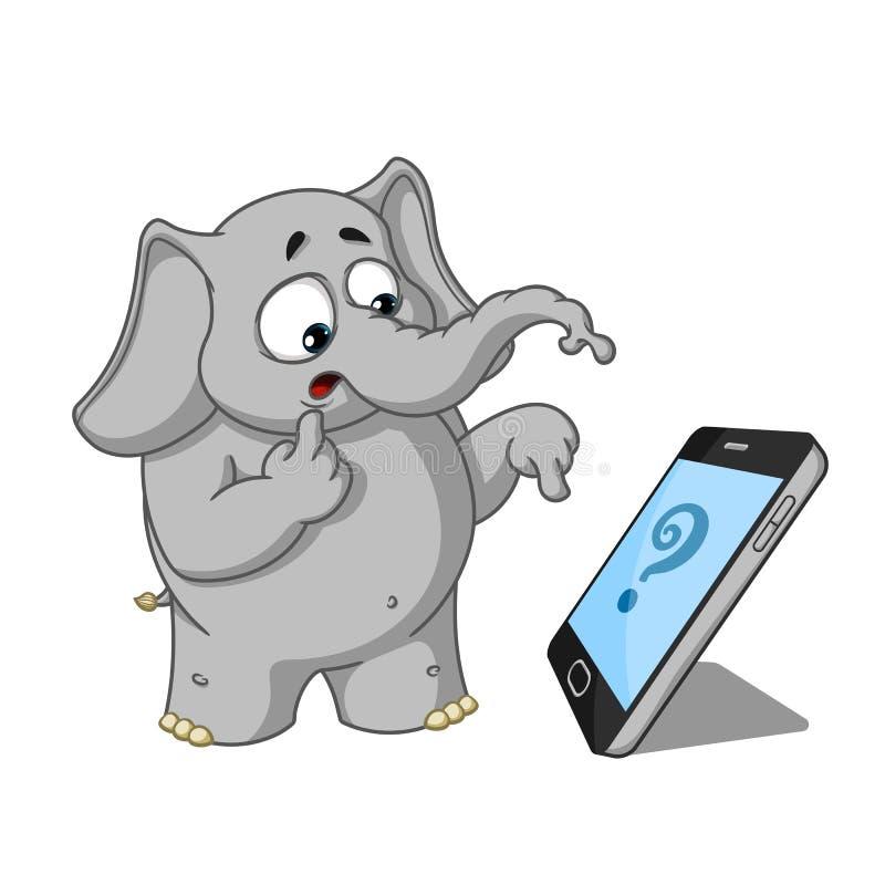 Elefant tecken Kallat någon, förvånat stor samling vektor illustrationer