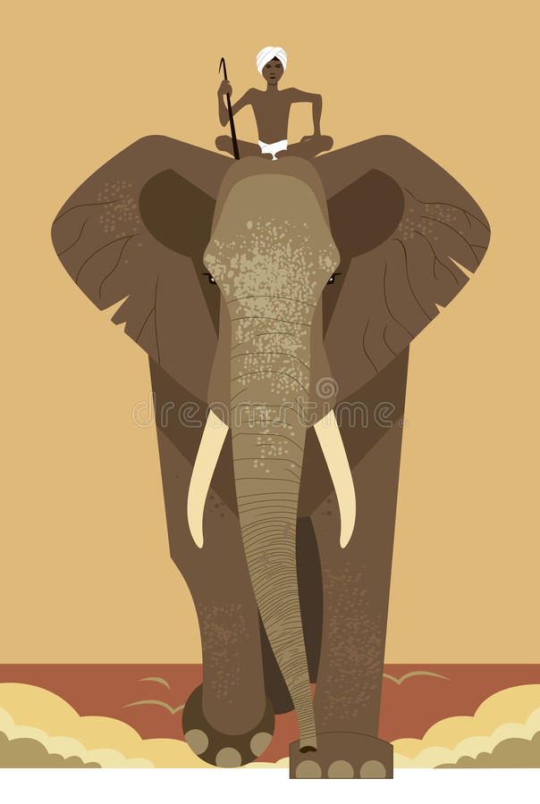 Elefant und Mahout vektor abbildung