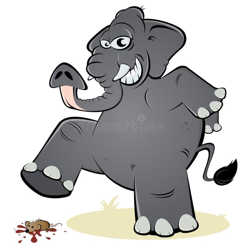 elefant und maus vektor abbildung illustration von nagetier 24778030. Black Bedroom Furniture Sets. Home Design Ideas