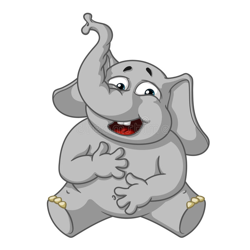Elefant Zeichen Lachen, Das Ihren Magen Hält Große Sammlung ...