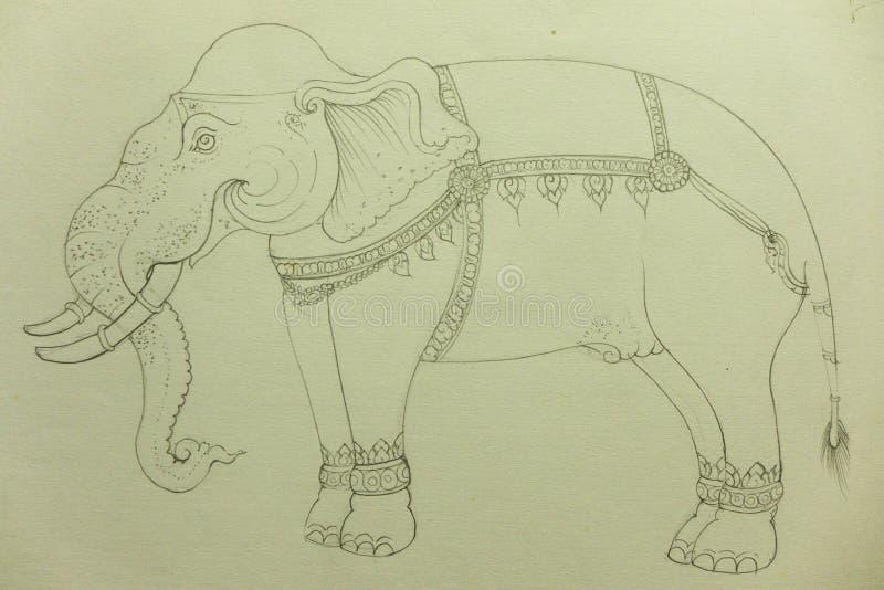 Elefant-Zeichnung lizenzfreie abbildung