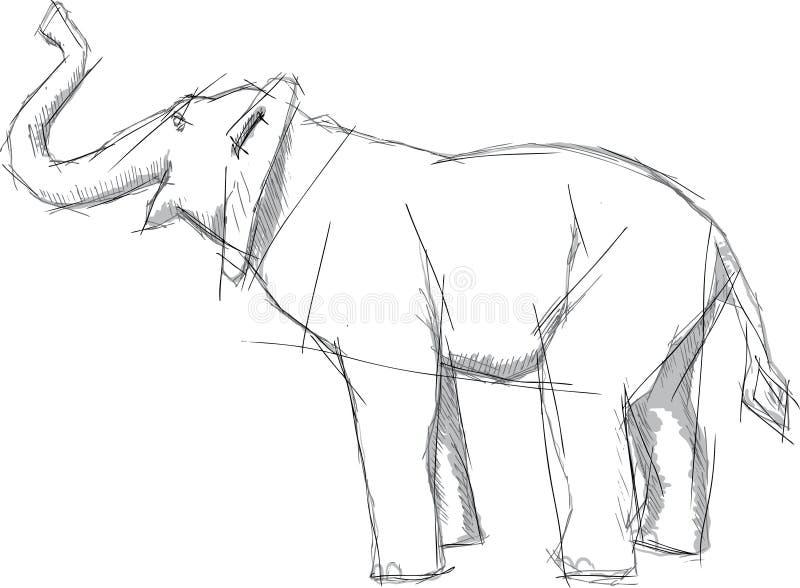 elefantdiagramstil stock illustrationer