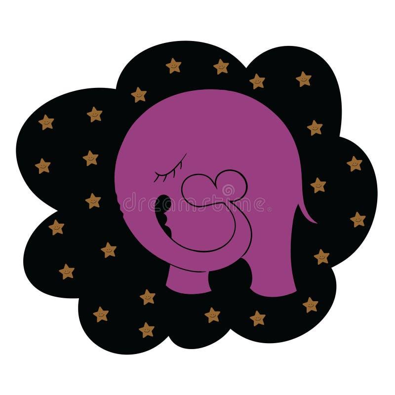 Elefantdröm vektor illustrationer