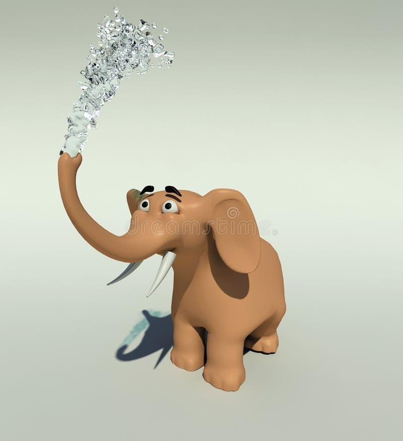 Elefantdusche vektor abbildung