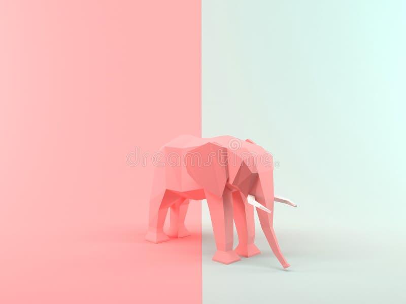 Elefante abstrato da rendição 3D ilustração do vetor