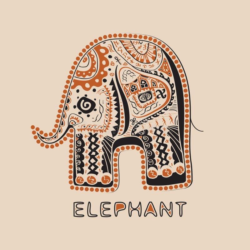Elefante africano ilustración del vector